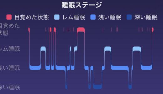 Fitbitの睡眠トラッキング機能は高精度?|睡眠レベルとグラフ